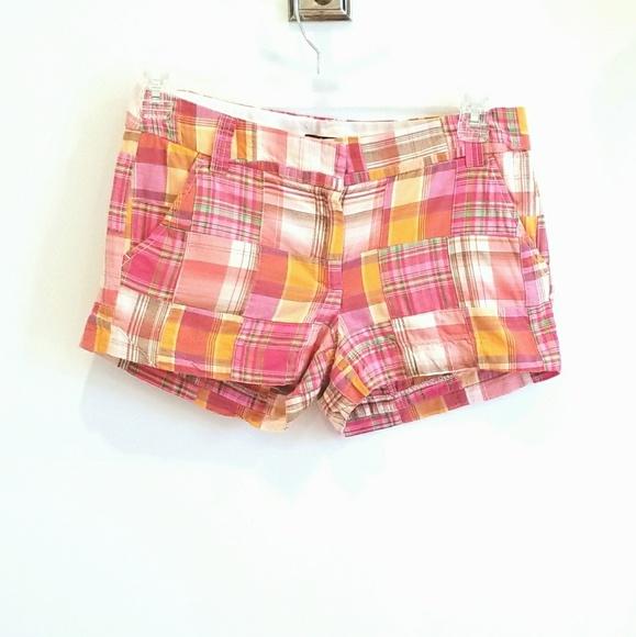 J. Crew Factory Pants - J. Crew Factory pink madras plaid shorts